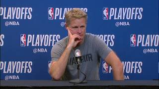 Steve Kerr Postgame Press Conference | Spurs vs Warriors - Game 3 | 2018 NBA Playoffs