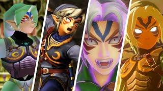 Evolution of Fierce Deity Link in Zelda Games (2000-2021)