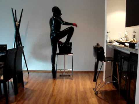 wearing latex catsuit and gas mask from YouTube · Duration:  4 minutes 19 seconds