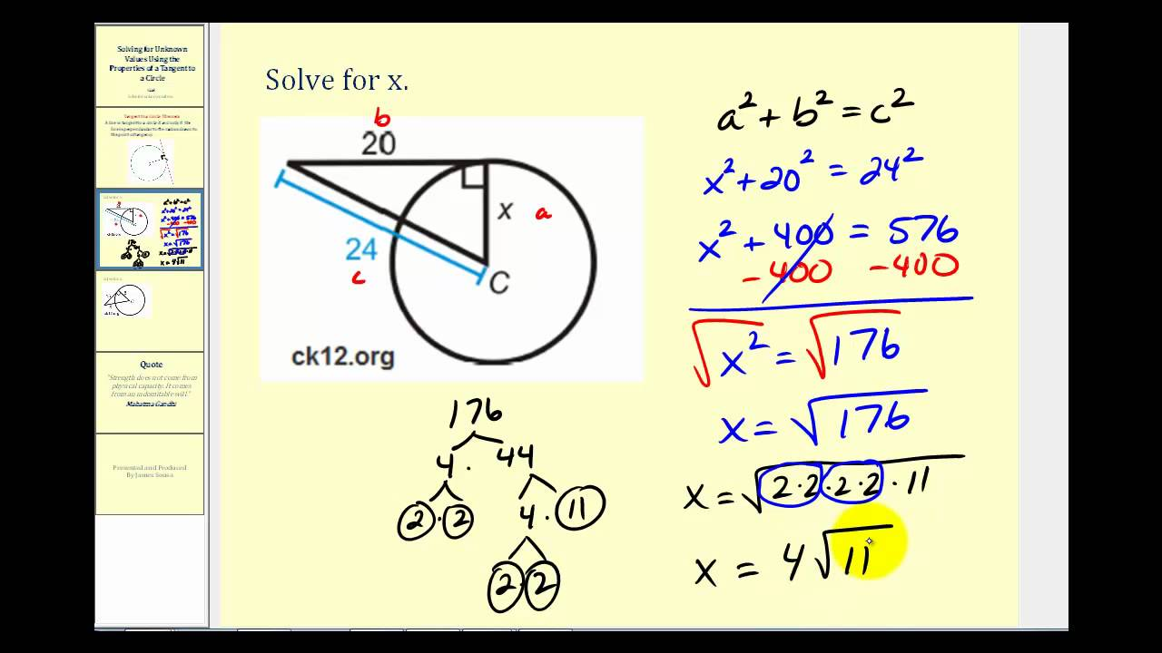Tangent lines to a circle example problems youtube tangent lines to a circle example problems falaconquin