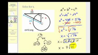 Tangent Lines to a Circle Example Problems