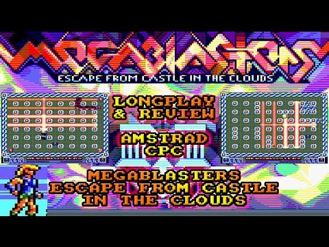 [AMSTRAD CPC] Megablasters : Escape From Castle In The Clouds - Longplay & Review (NEW GAME!)
