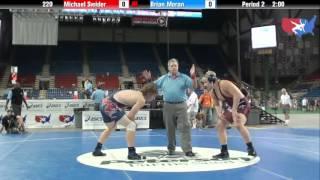 Fargo 2012 220 Round 5: Michael Swider (Illinois) vs. Brian Moran (Michigan)