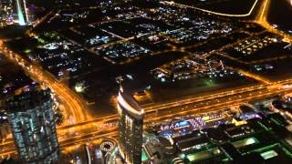 Night aerial view of Dubai from Burj Khalifa