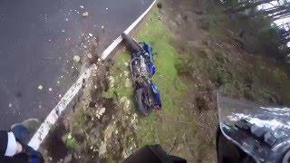 Надо было сильнее наклонить мотоцикл