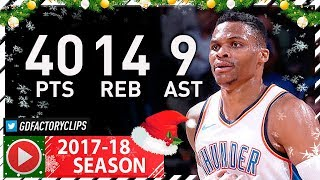 Russell Westbrook Full Highlights vs Bucks (2017.12.29) - 40 Pts, 14 Reb, 9 Ast