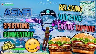 ASMR Gaming ???????? Fortnite Mukbang Eating Hamburgers Commentary + Tapping 먹방 ???????? Relaxing Whispering ????????