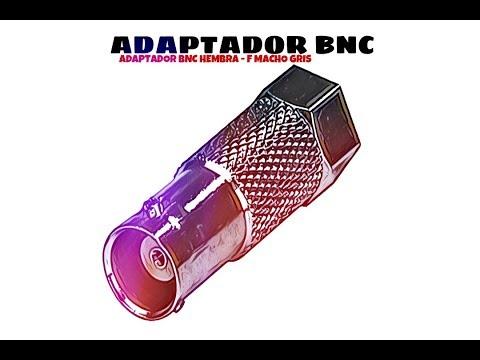 Video de Adaptador BNC hembra - F macho  Gris