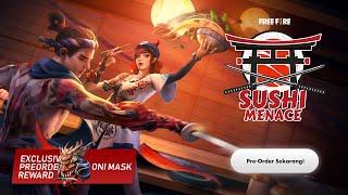 Elite Pass Sushi Menace | Pre-order Dapat Topeng Oni Mask!
