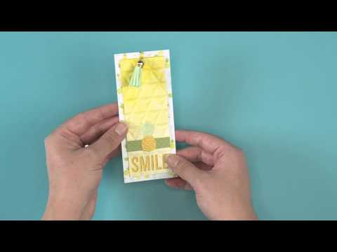 DIY Pineapple Tag   Sizzix