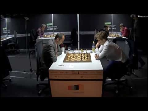 ♚ Veselin Topalov vs Magnus Carlsen ☆ Norway Chess 2014