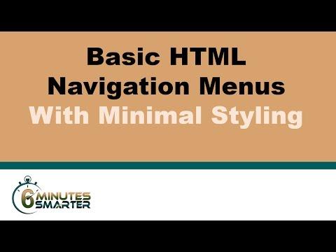 Basic HTML Navigation Menus