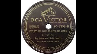 RAY NOBLE & HIS ORCHESTRA - I've got my love to keep me warm - 1937