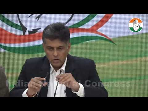PM Questioning Air Strikes, not Opposition: AICC Press briefing by Manish Tewari at Congress HQ