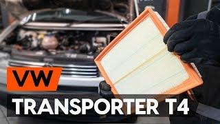Hoe Luchtfilter VW TRANSPORTER IV Bus (70XB, 70XC, 7DB, 7DW) vervangen - videohandleidingen