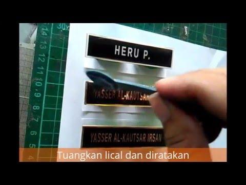 Tutorial Pembuatan Name Tag  Nama Dada Tahap Pengecoran Resin Lical