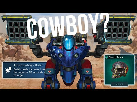 "War Robots - NEW Heavy Weapon Avalanche With ""Cowboy"" Pilot Skill 