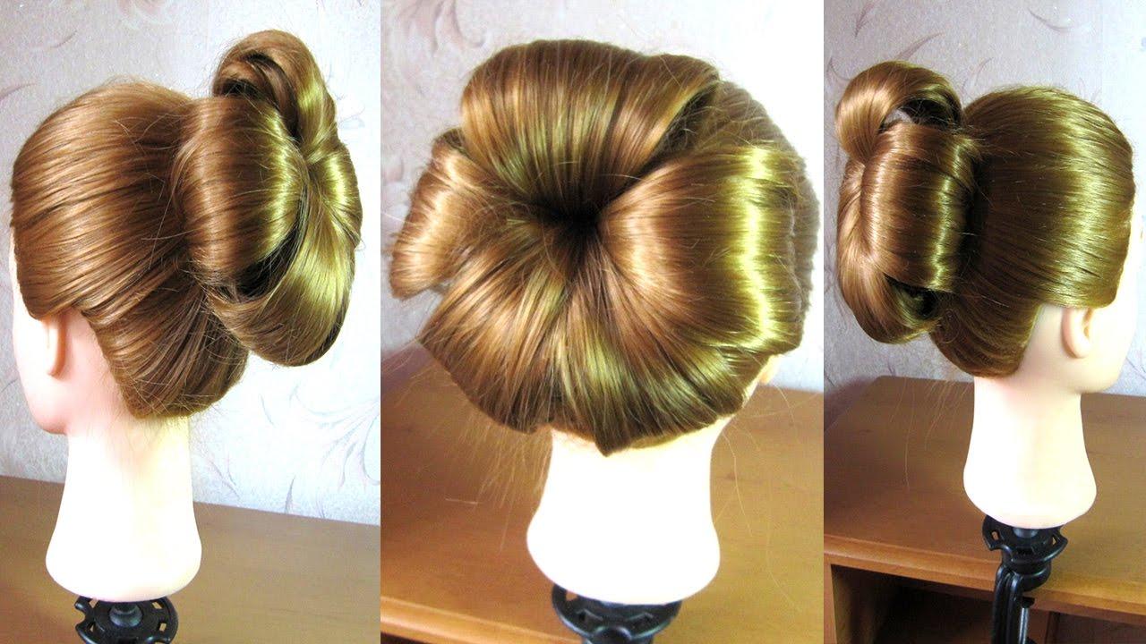 Tuto coiffure chignon fleur /facile a faire Coiffure simple et rapide - YouTube