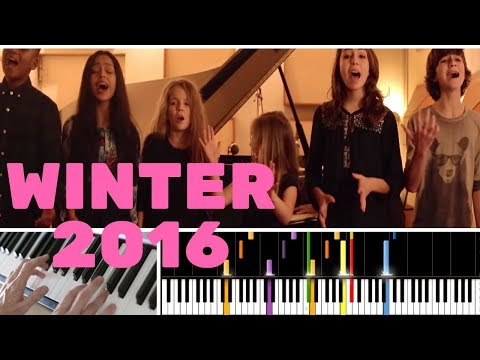 "TUTO PIANO : ""WINTER 2016"" DES KIDS UNITED"