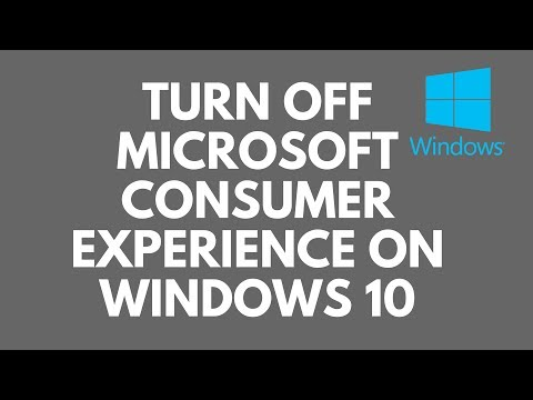 Turn Off Microsoft Consumer Experience on Windows 10