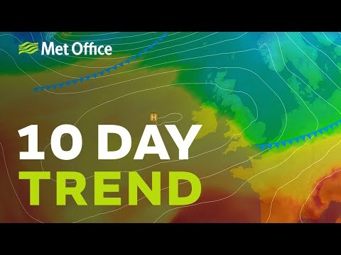 10 Day trend – High pressure and yo-yoing temperatures 26/09/18