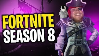 LIVE REACTION TO FORTNITE SEASON 8!! 100% BATTLE PASS & FIRST WIN!! W/ DRLUPO, CLOAK & FEARITSELF