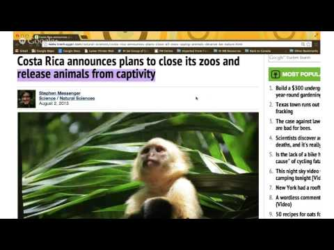 Costa Rica is closing it's zoos