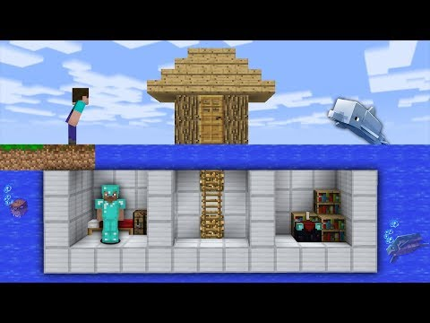 Minecraft Sub NOOB vs PRO UNDERWATER SECRET HOUSE BASE in Minecraft Animation | Part 5 thumbnail