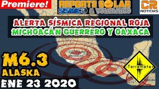 ALERTA SÍSMICA - MÉXICO  - ENJAMBRES EN MICHOACÁN Y OAXACA - REPORTE SOLAR SÍSMICO Y VOLCÁNICO (Rep)