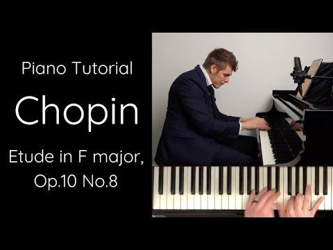 Chopin - Etude in F major, Op.10 No.8 Tutorial
