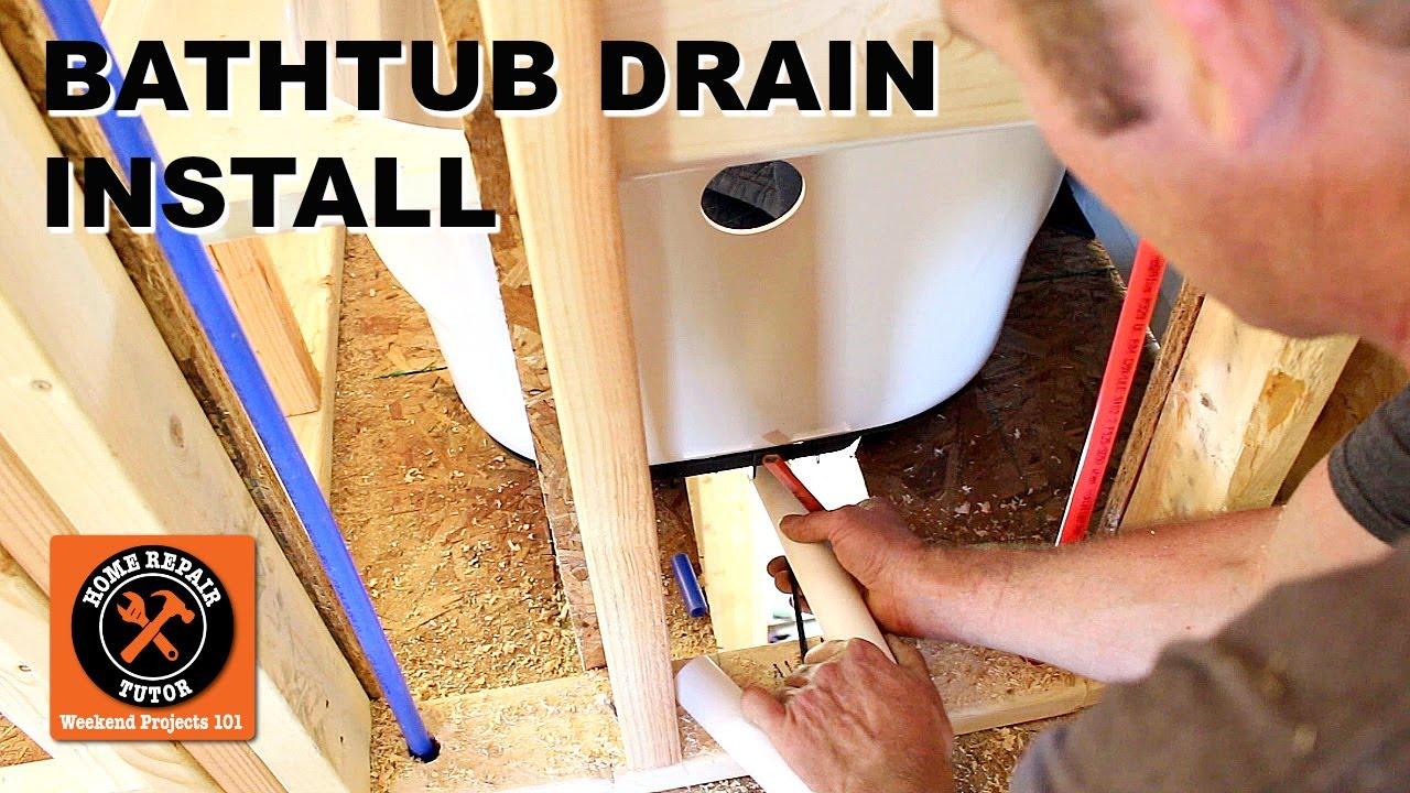 Bathtub Drain Kit Installation Step By You