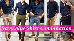Navy Blue Shirt With Matching Pants 2020 // Best Color Combination For Men // by Look Stylish