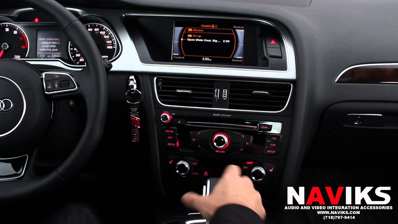 2016 Audi A4 B8 Naviks Video Integration Interface Add