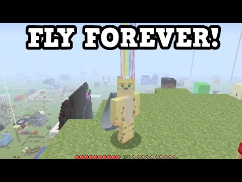 Minecraft Xbox One / PS4  Elytra  How To Fly INFINITELY  (TU46)