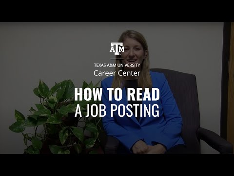 How to Read a Job Posting