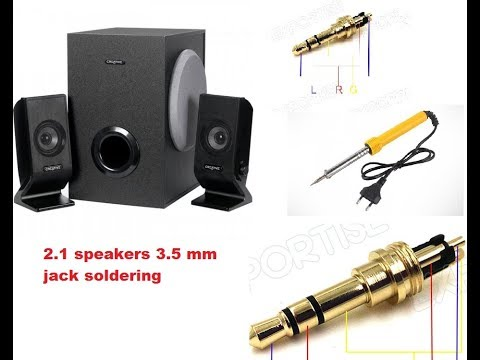 soldering 3 5mm jack of 2 1 creative speaker problem solved Microphone Jack Wiring