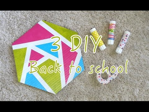 3 diy back to school customiser colle scotch tapis de souris youtube. Black Bedroom Furniture Sets. Home Design Ideas