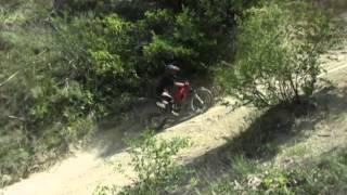 Camping le Chamadou / Jonas an der Steilwand