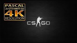 Counter Strike Global Offensive 4K GTX 1080 Ti SLI | CSGO GTX 1080 ti SLI 4K
