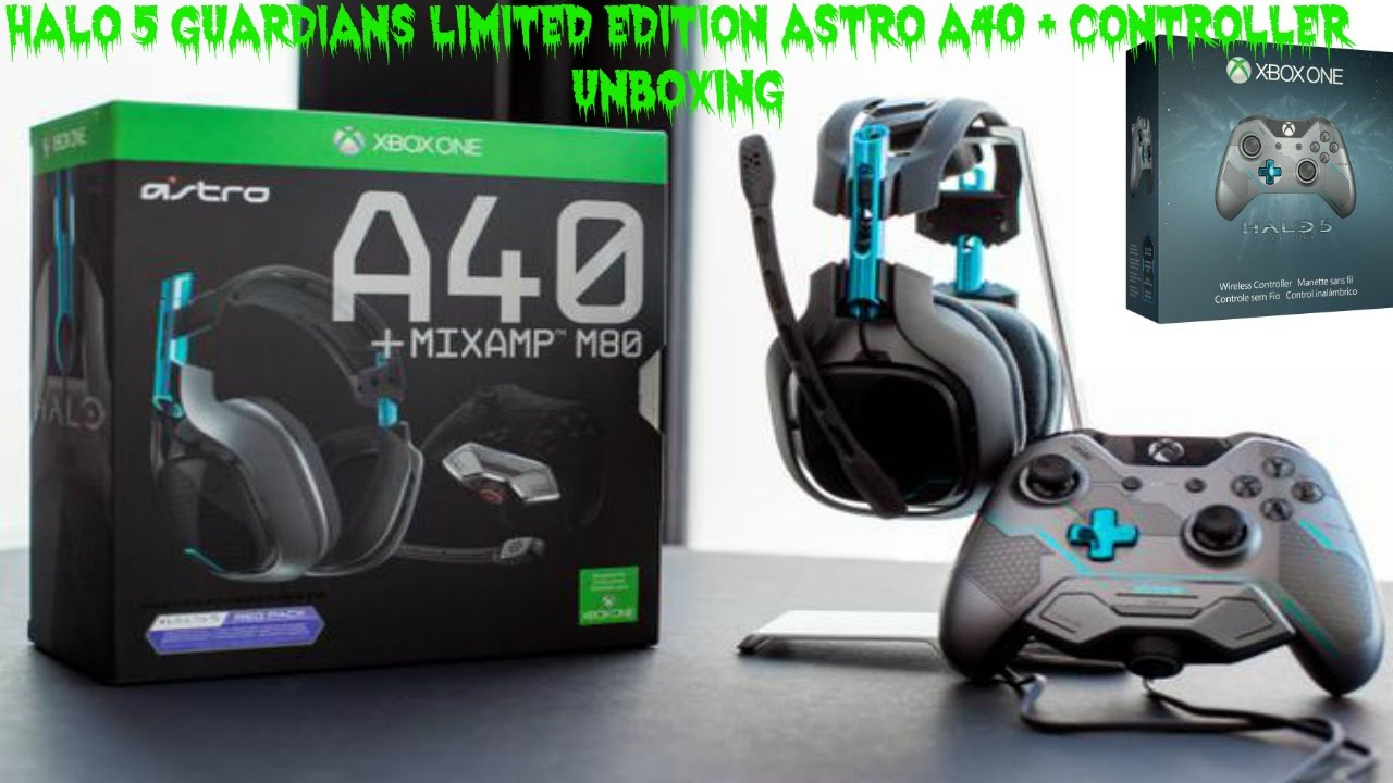 517438fe5e4 Halo 5 Guardians Headset & Controller Unboxing - YouTube