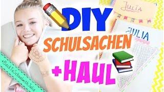 BACK TO SCHOOL DIY NOTEBOOKS & SUPPLIES HAUL | Julia Beautx