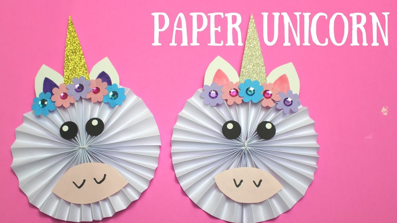 How To Make A Paper Unicorn Paper Crafts For Kids Youtube