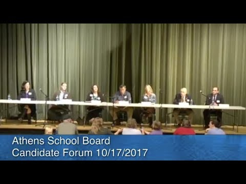 Athens School Board Candidate Forum 10/17/2017