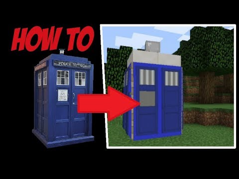 How To Build The TARDIS Exterior In MINECRAFT