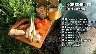Beans with Sausages recipe in Cauldron by Cooking Bro