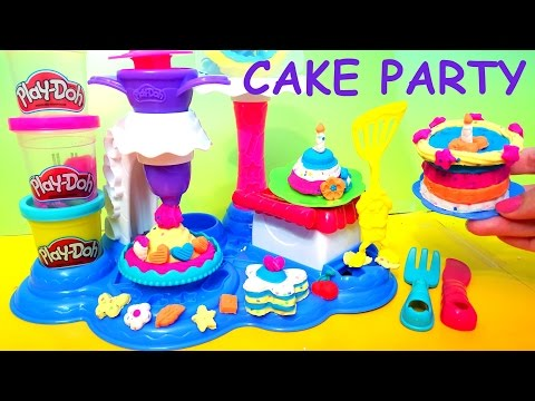 Play-Doh Cake Party Unboxing toy review MsDisneyReviews video