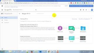 Cara Membuat Blogger API Key v3