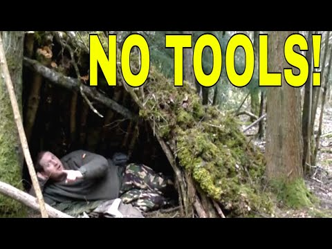 No Tools Shelter for Survival,Prepping,Bush Craft