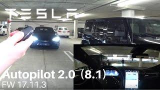 TESLA Autopilot 2.0 (8.1) -  Summon