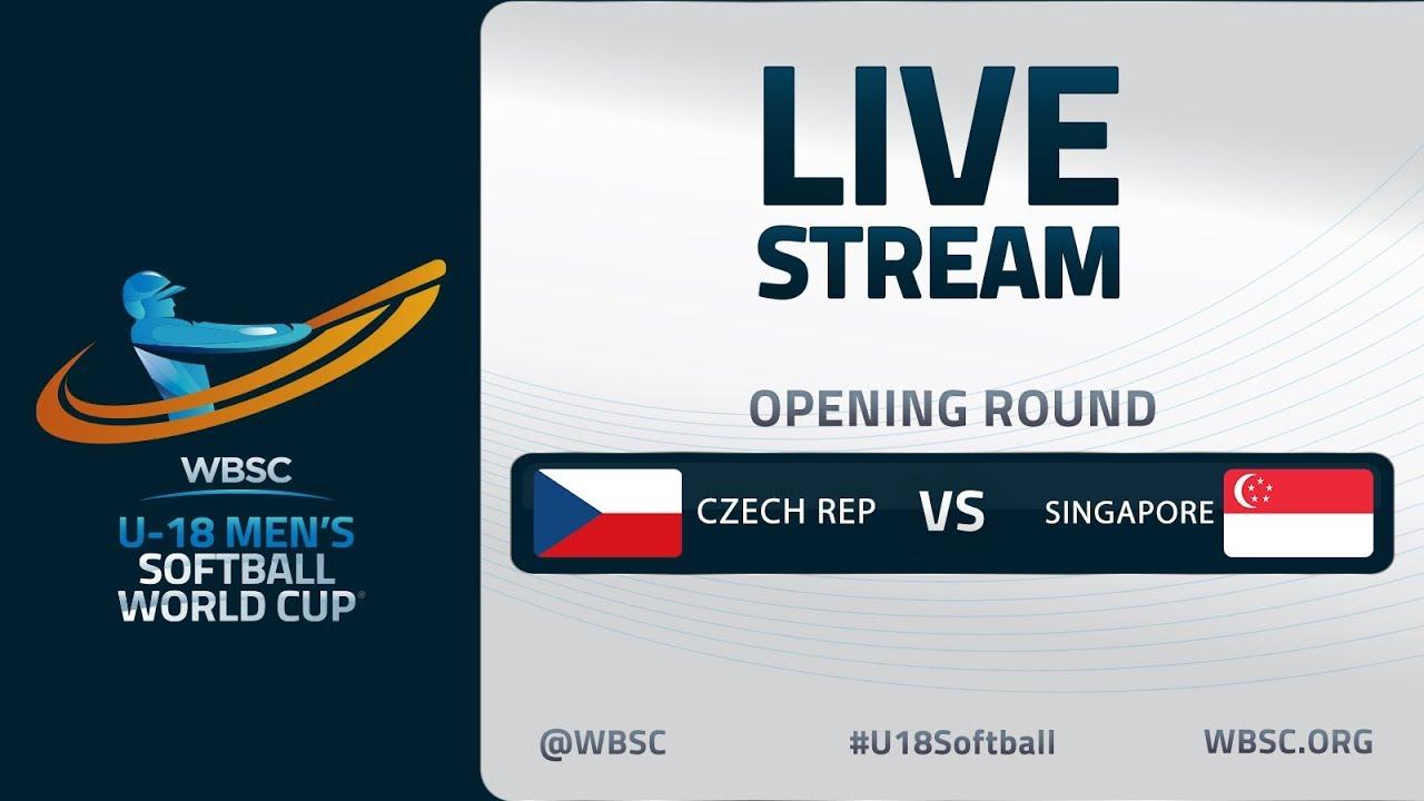 Czech Republic v Singapore - U-18 Men's Softball World Cup 2020 - Opening Round